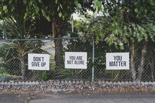 don't give up you matter